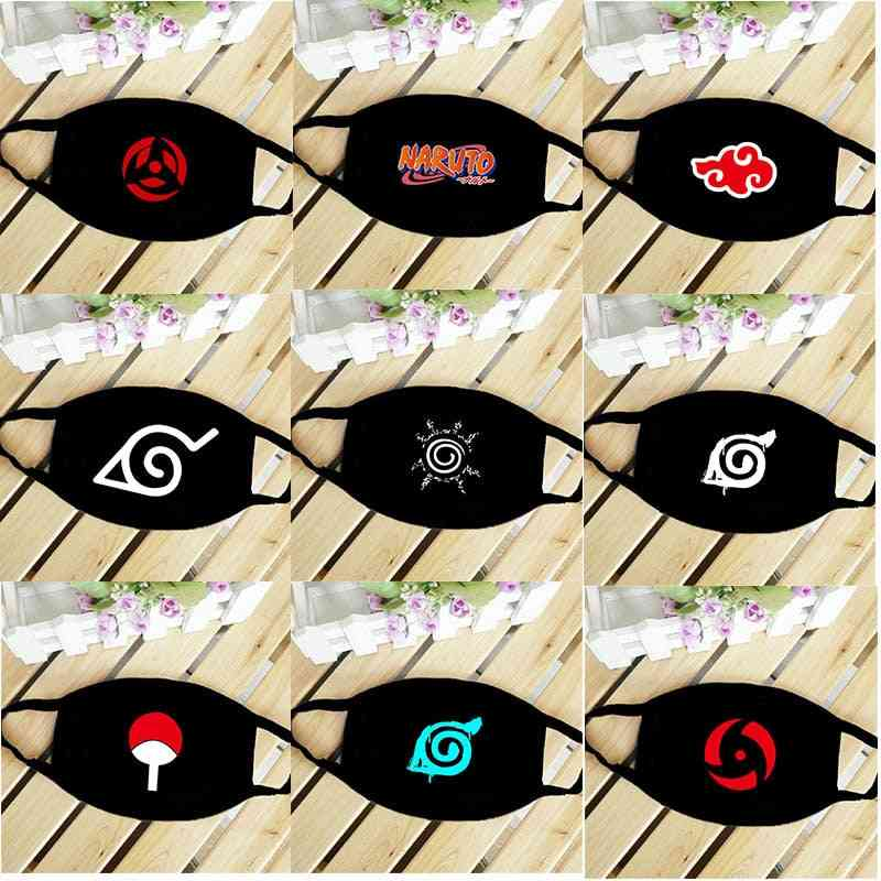 Anime Naruto Cosplay Prop, Washable, Dust-proof Mouth Masks