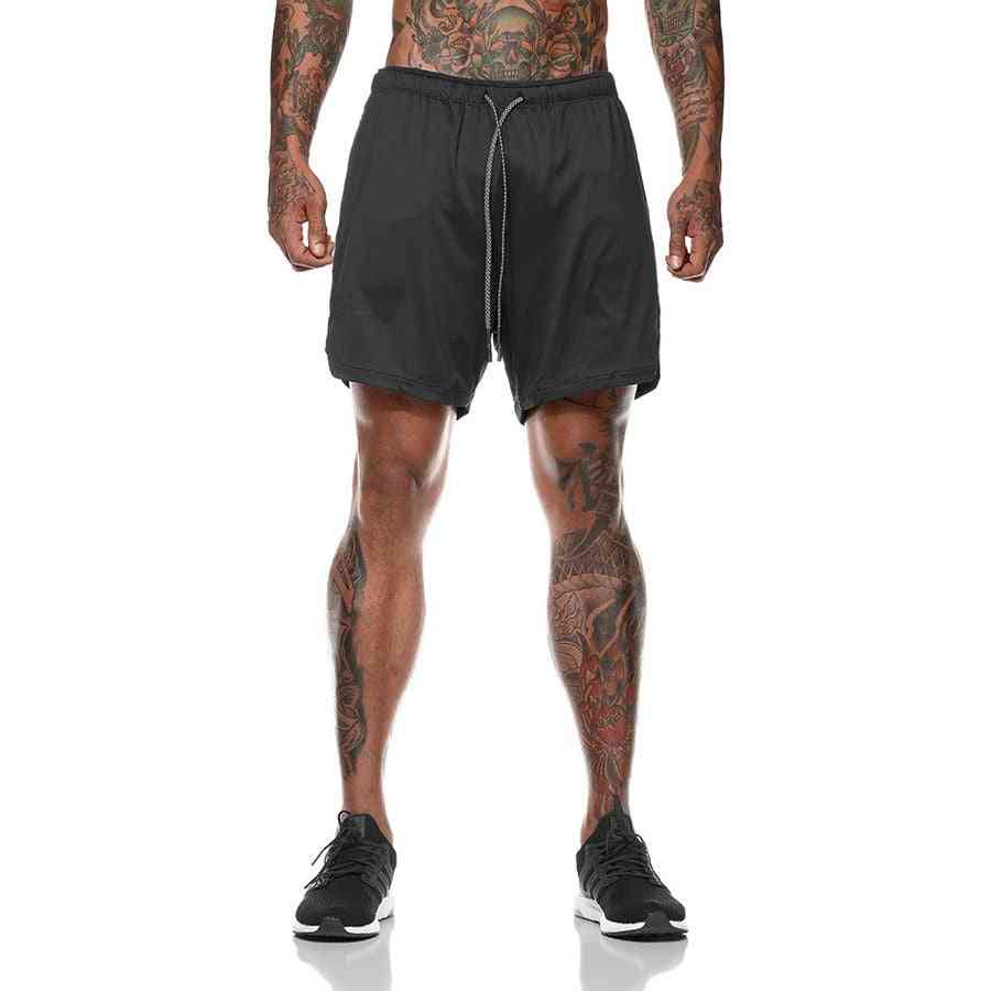 Men's Pants, Gyms Fitness Bodybuilding Workout Quick-dry Beach Joggers Shorts