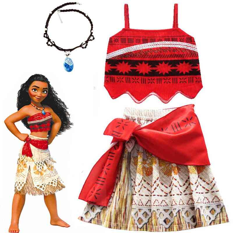 Diana Princess Dress Clothes With Necklace, Halloween Costumes