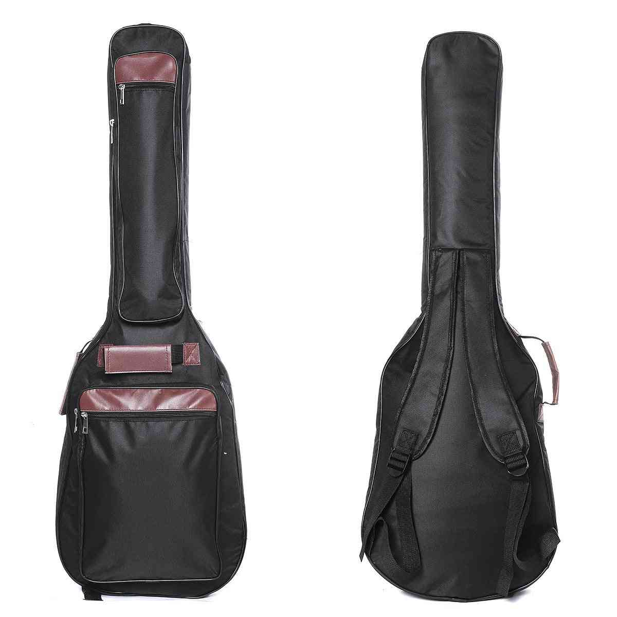 Electric Guitar/bass Bag With Double-shoulder Straps