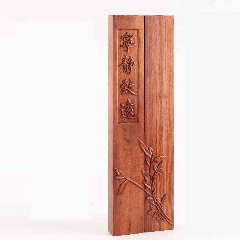 Classical Carving Sandalwood Paperweight