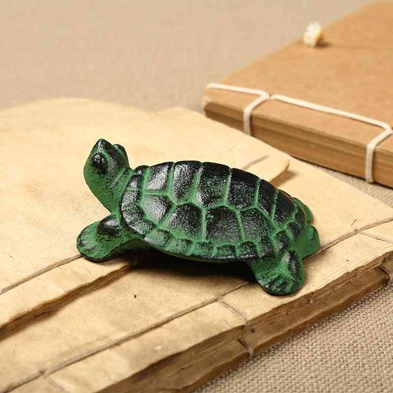 Cast Iron Tortoise Shaped Paper Weight