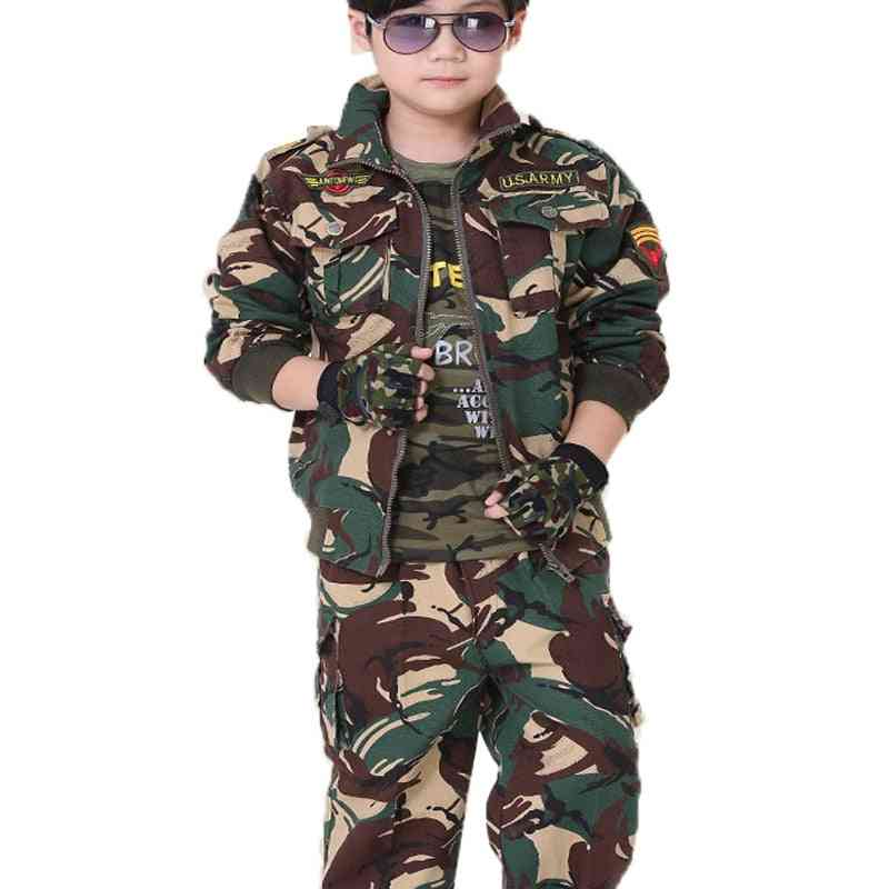 Children Spring And Autumn Camouflage Suit
