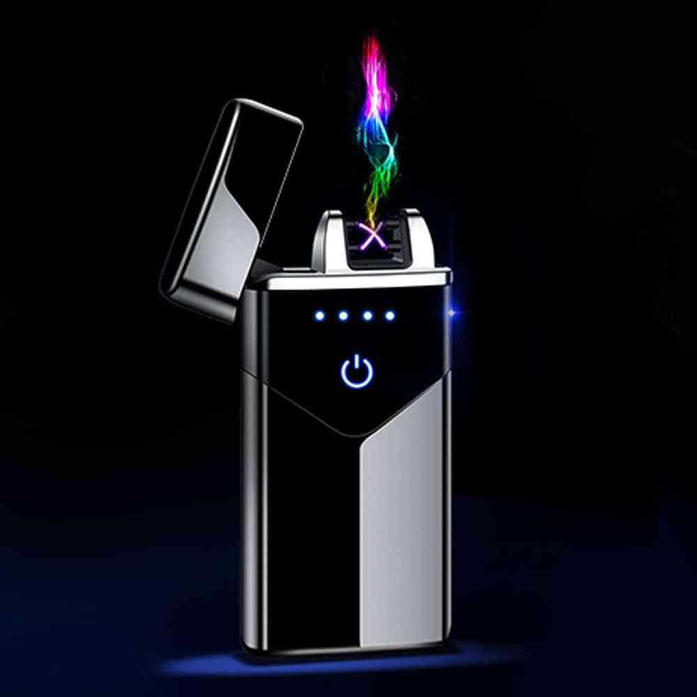 Dual-arc, Touch Fire, Usb Electric Rechargeable, Plasma Cigarette Lighter