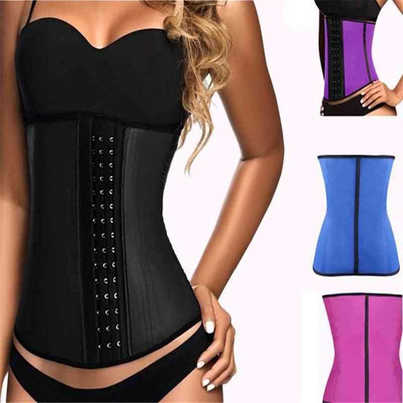 Latex Waist Trainer-corset Steel Bone Shapewear Body Shapers Women Corset Slimming Belt