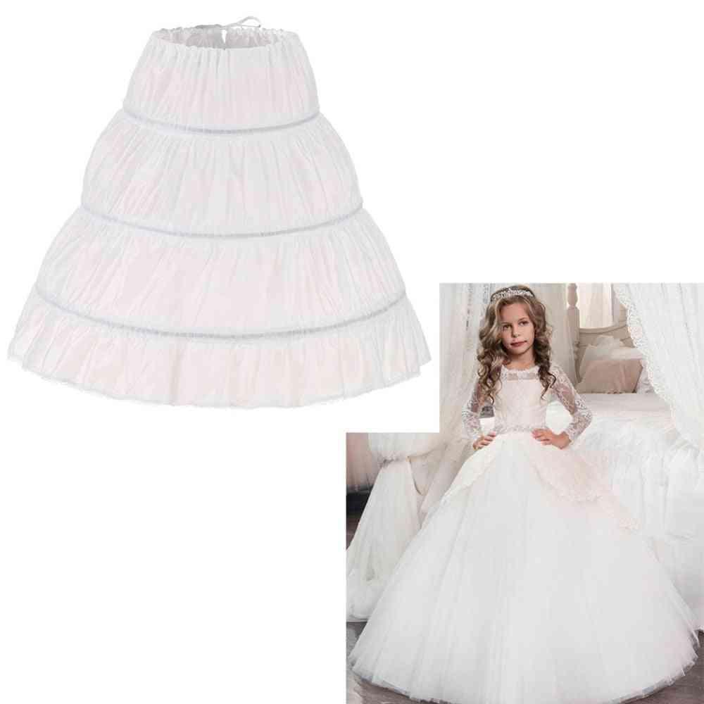 Children, Kid, Girl Dress Petticoat, Crinoline, Underskirt, Wedding Fluffy Skirt