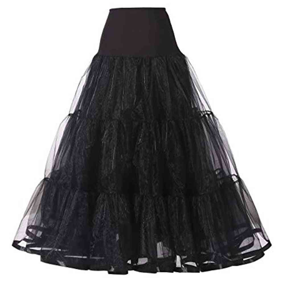 Long Organza Vintage Bridal Wedding Dresses, Underskirt