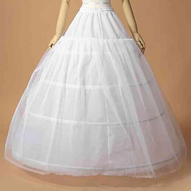 Women Bridal Dress, Support Petticoat 1-layer Yarn Skirt