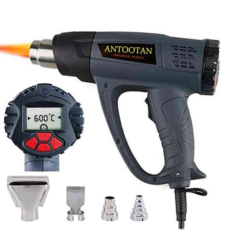 Heat Gun, Hot Air Blower Tablet With Lcd Display Wireless Wind Control Memory Kits