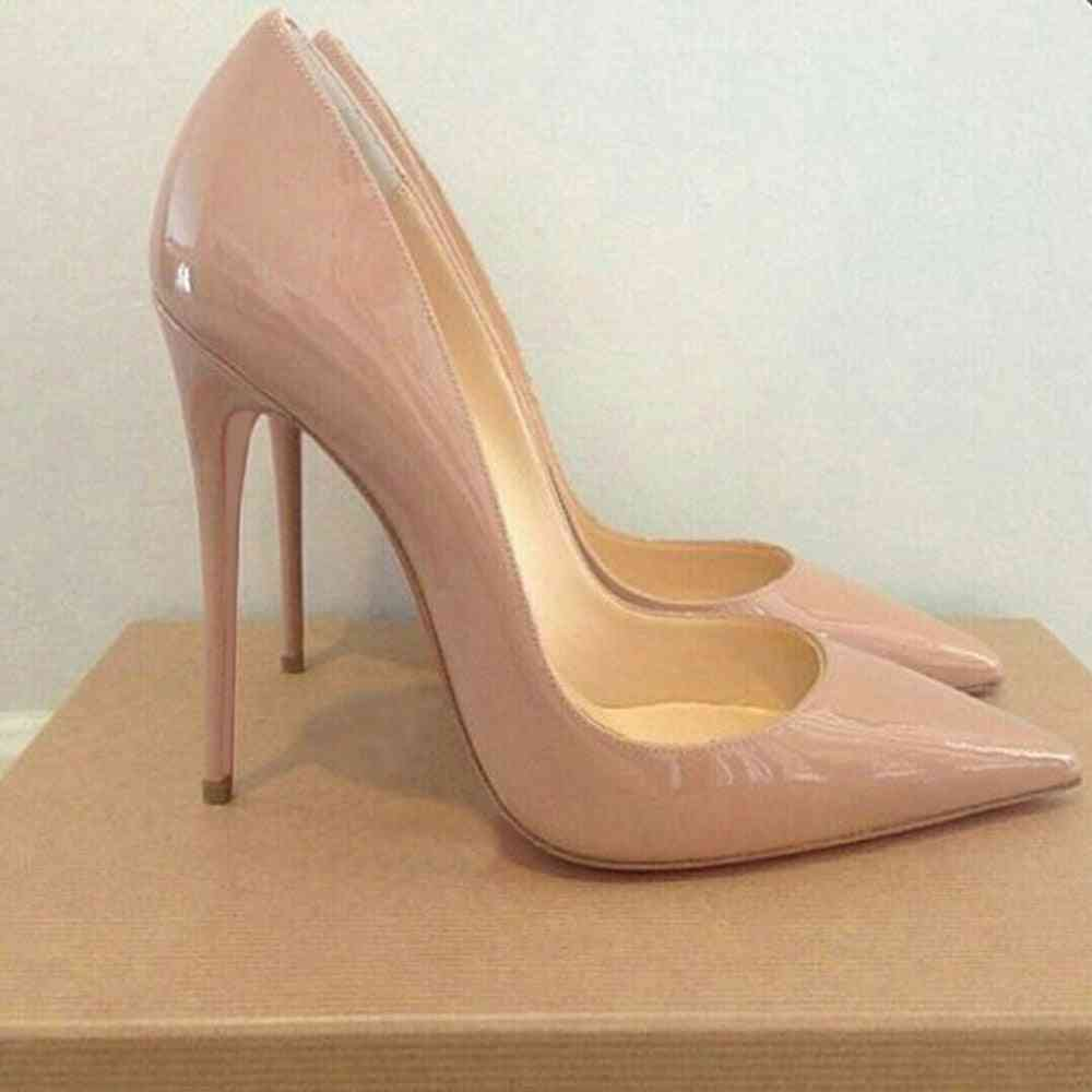 Women's Leather Pumps Heeled Shoes