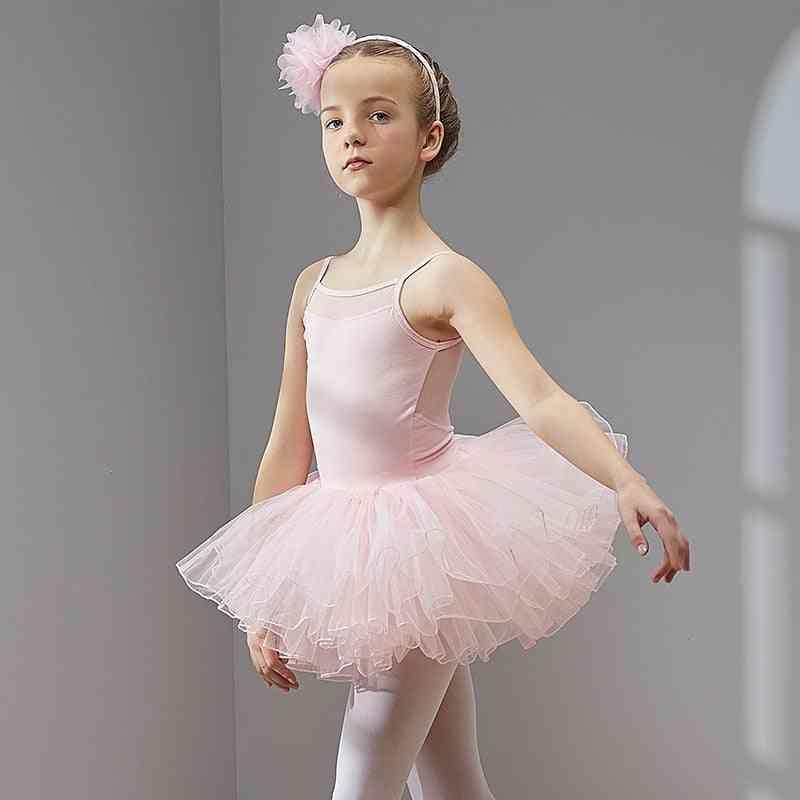 Short Sleeves, Tulle Ballet Dress, Dance Wear