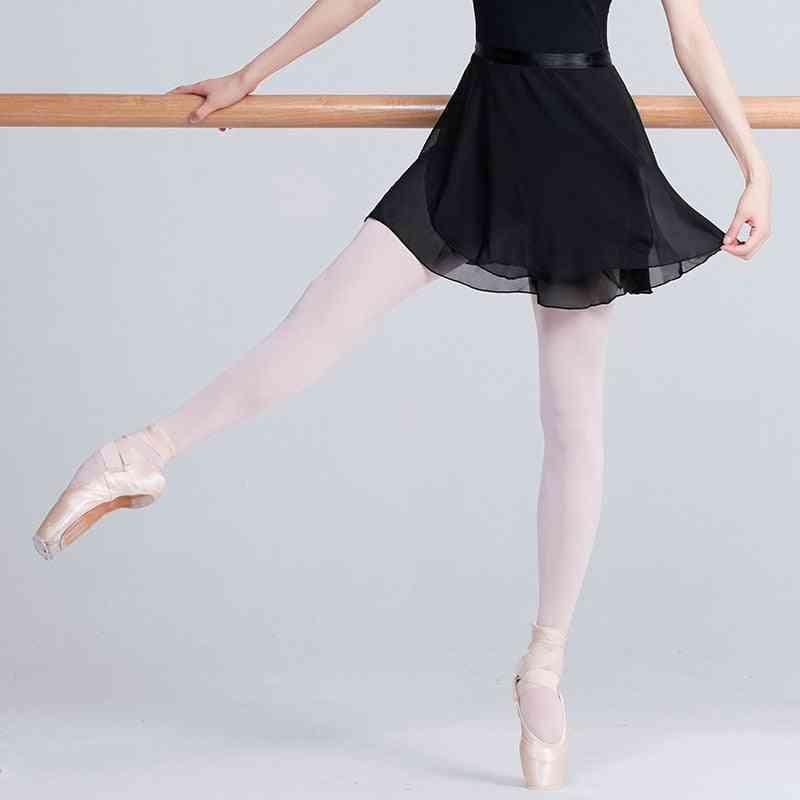 Women Chiffon Ballet Dance, Gymnastics Wrap Skirt