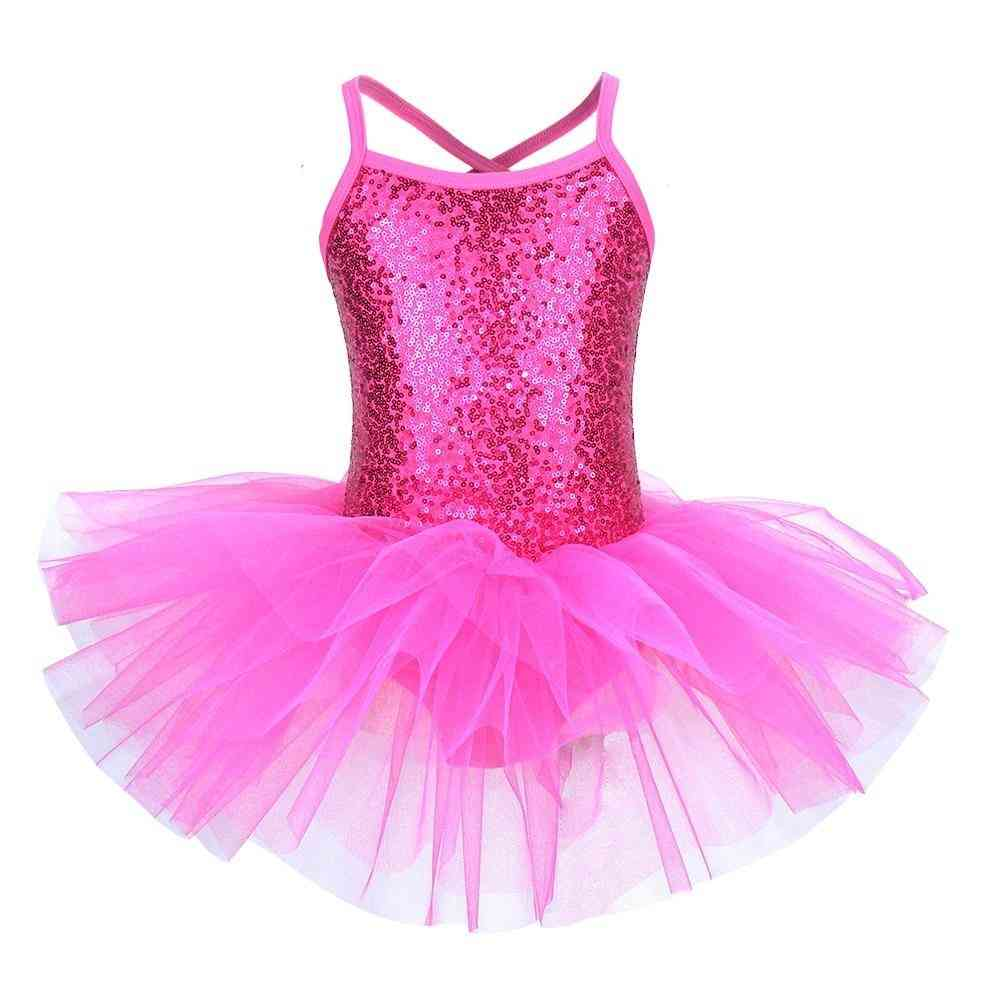 Ballerina Fairy Prom Party Costume, Sequined Flower Dress