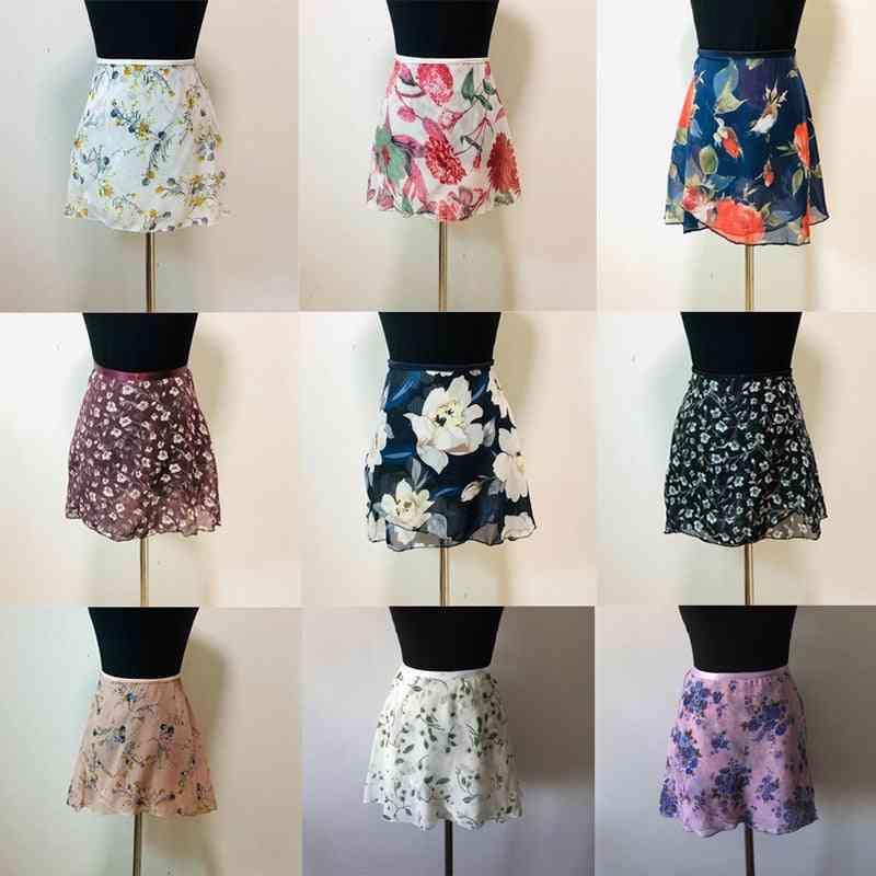 Women, Chiffon Floral Print, Ballet Tutu Skirt