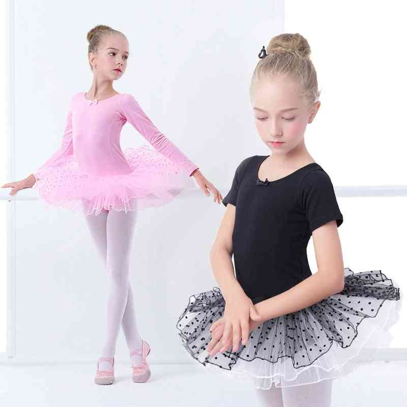 Girls Ballet Tutu Costumes Dress With Dot Tutus For Gymnastics, Dance