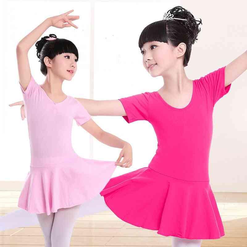 Girls Cotton Gymnastics Leotard Ballet Dress