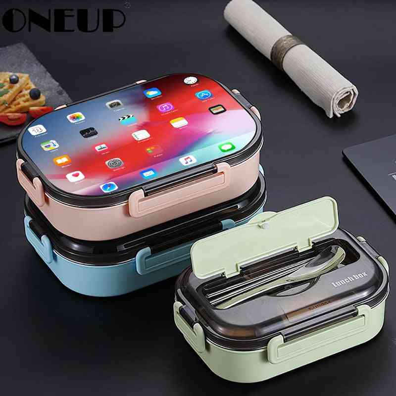 Portable Stainless Steel Lunch Box New Hot Japanese Style Compartment Kitchen Leakproof Food Container