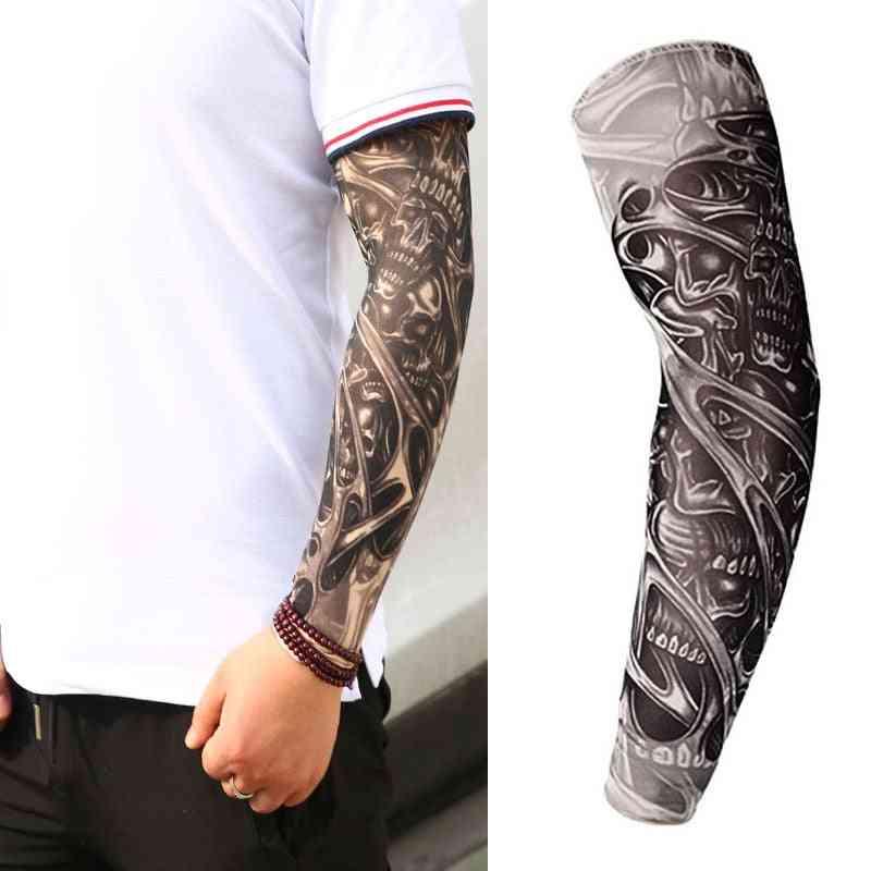 Temporary Fake Tattoo Arm Sleeve Warmer Sleeves