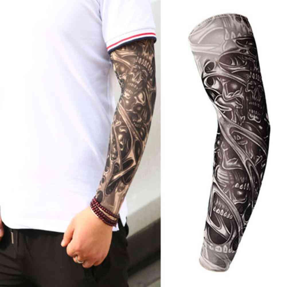 Stretchy Uv Protection Slip Mangas Tattoo Arm Leg Sleeves