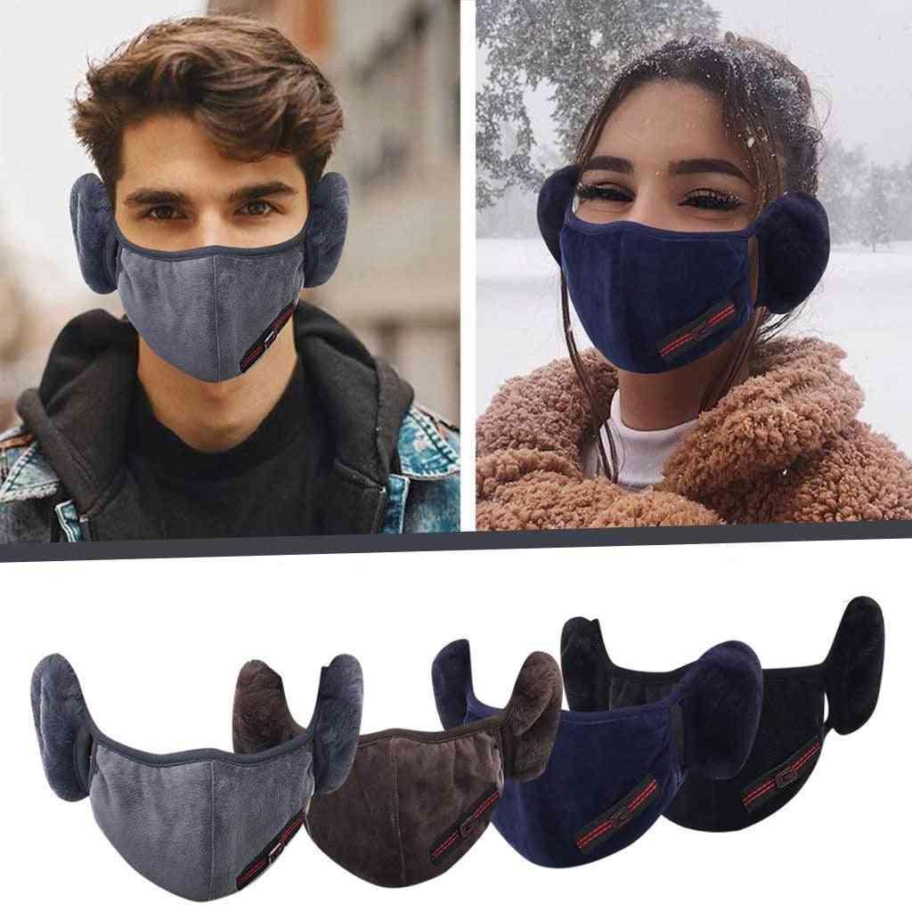 Autumn Winter Warm Plush Face Mask