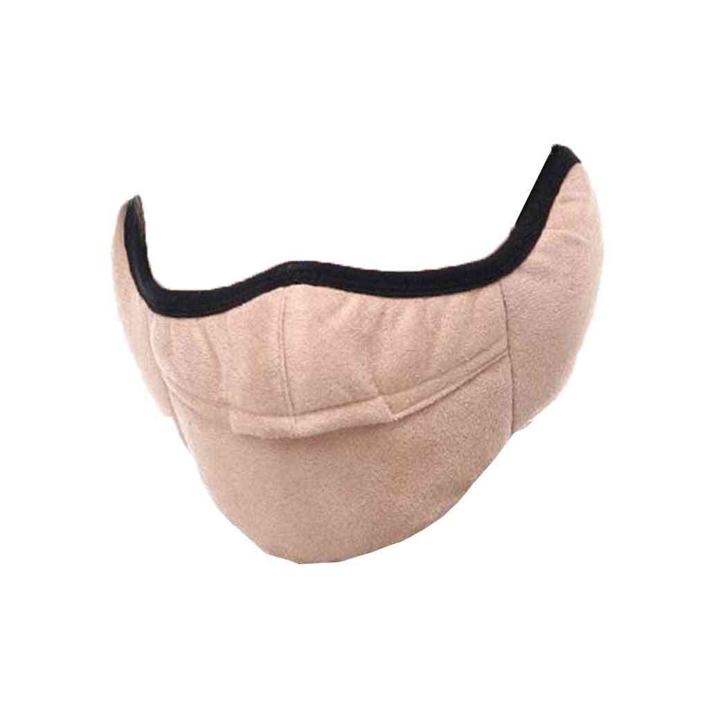 Winter Two-in-one Earmuffs Warm Mask, Dust-proof & Cold-proof Riding Masks