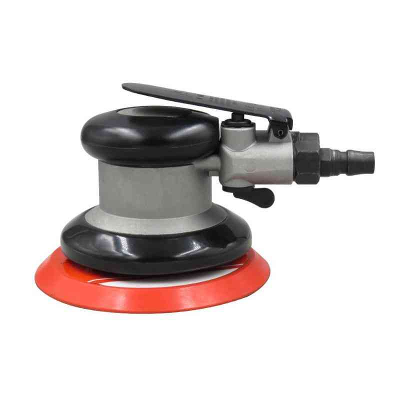 Pneumatic Sandpaper, Orbital Air Polisher, Woodworking Grinder Machine (red)