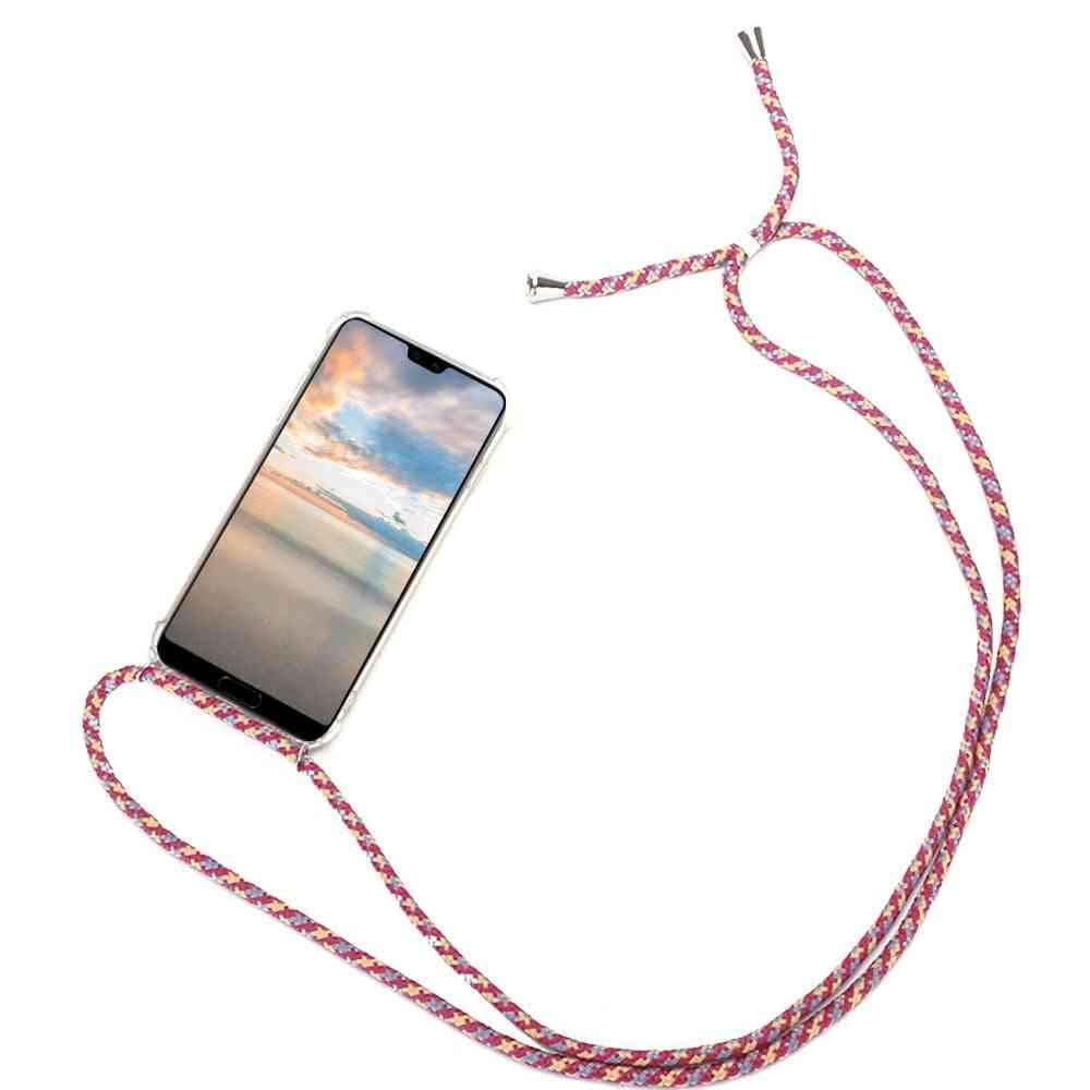 Strap Cord Chain Case, Necklace Lanyard Coque For Huawei Smart Z Y6 Y7 Y9
