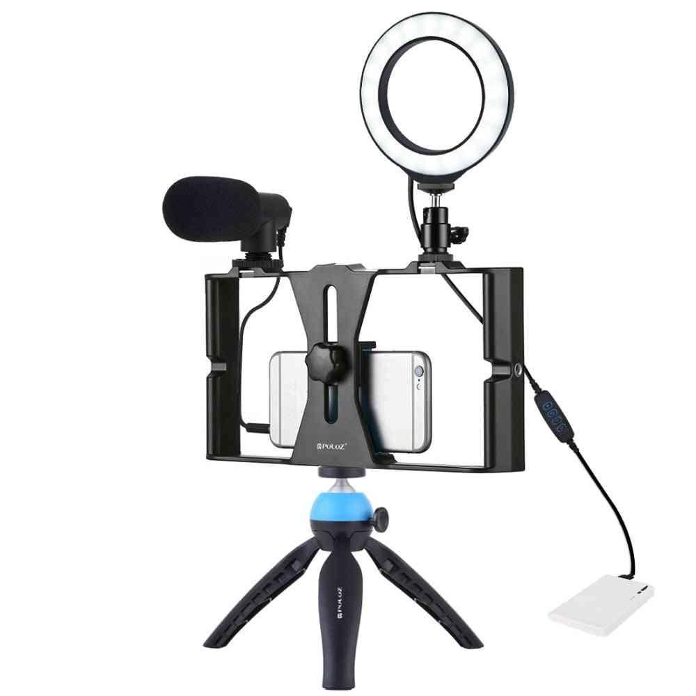 Kädessä pidettävä elokuvien valmistus, tallennus, vloggointikotelon stabilointikalvon vankka ote älypuhelimille