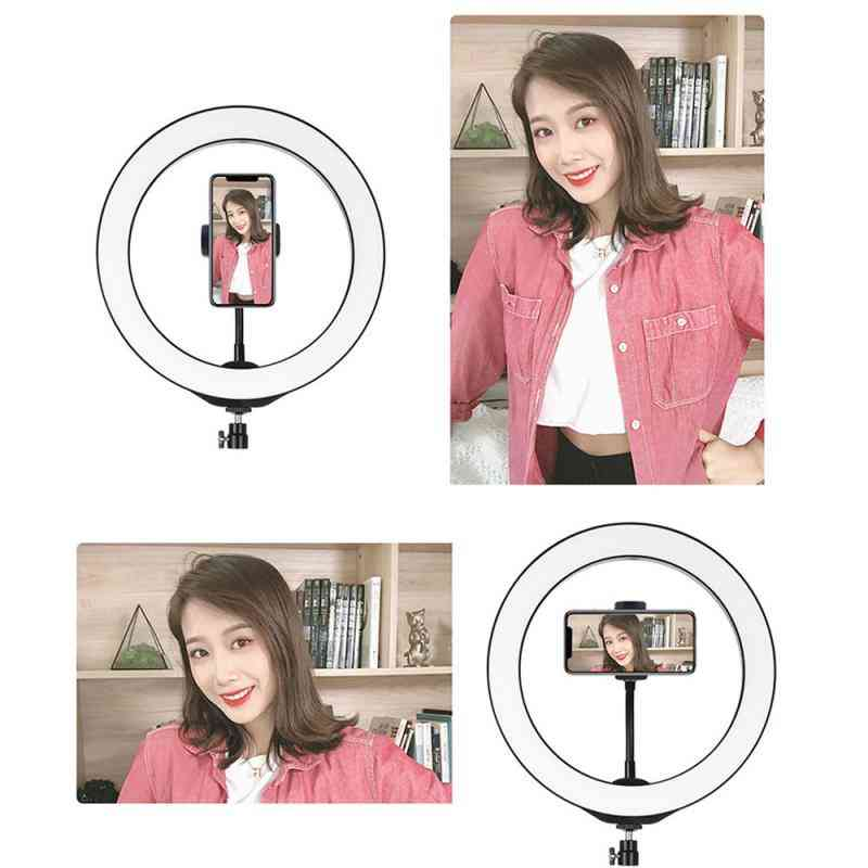 Selfie-studion videokameran led-rengas, valokuvalampun valo