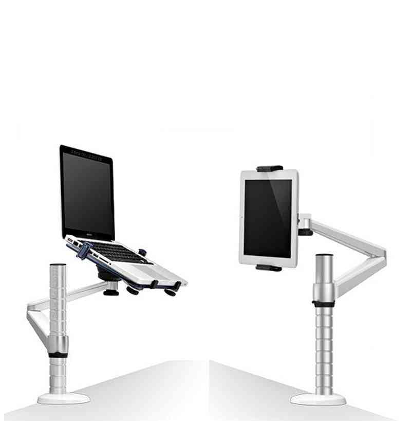 360 Rotation Aluminum Alloy 2 In 1 - Tablet Pc Holder + Laptop Stand