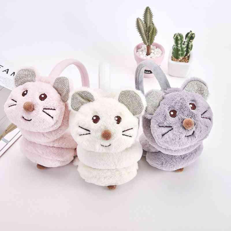Faux Fur Cute Little Mouse Earmuffs For