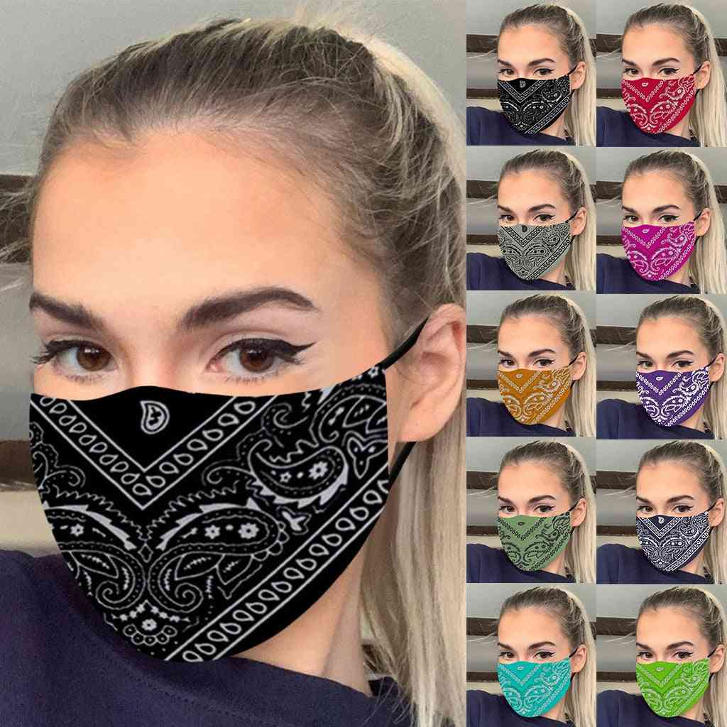 Washable Mask, Printed Windbreak Seamless Outdoor Riding Quick-drying Keep Masks
