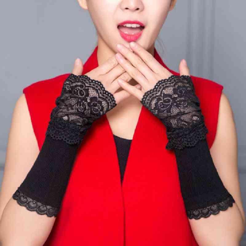 Fingerless Knitted Wrist Arm, Long Sleeve Gloves