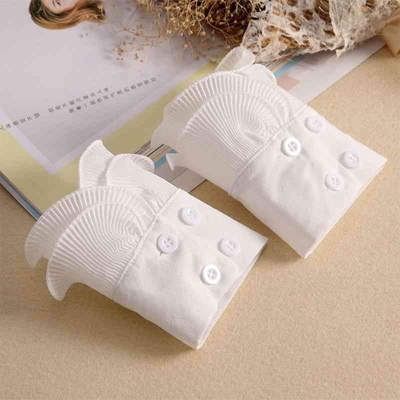 Detachable Shirt Pleated Flare Sleeve Cuffs