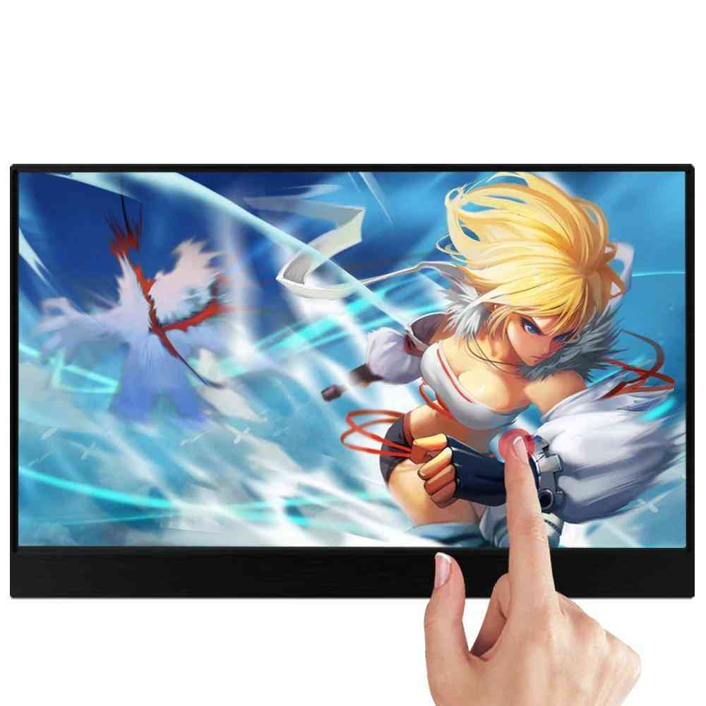 Portable Touchscreen Hdr Ips Gaming Monitor, Usb Type C Hdmi For Phone/laptop/desktop