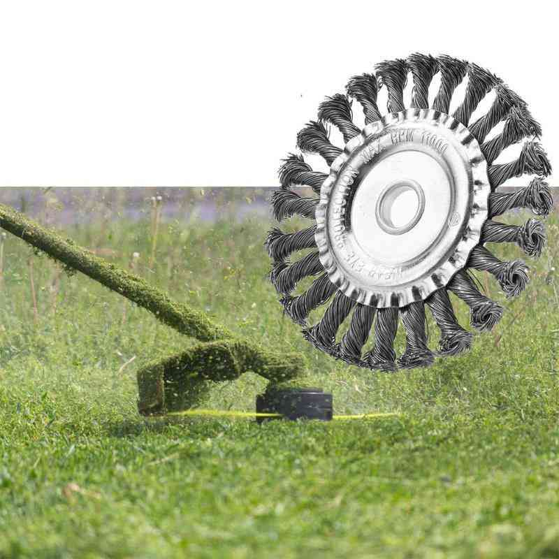 Durable Twist Knot Brush, Steel Wire Head-replacement For Electric Lawn Mower, Grass Trimmer
