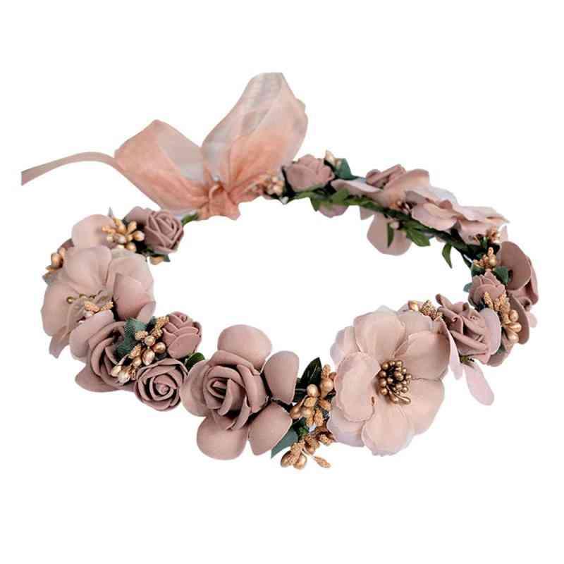 Headband Hair Rose Garland Wedding Accessories
