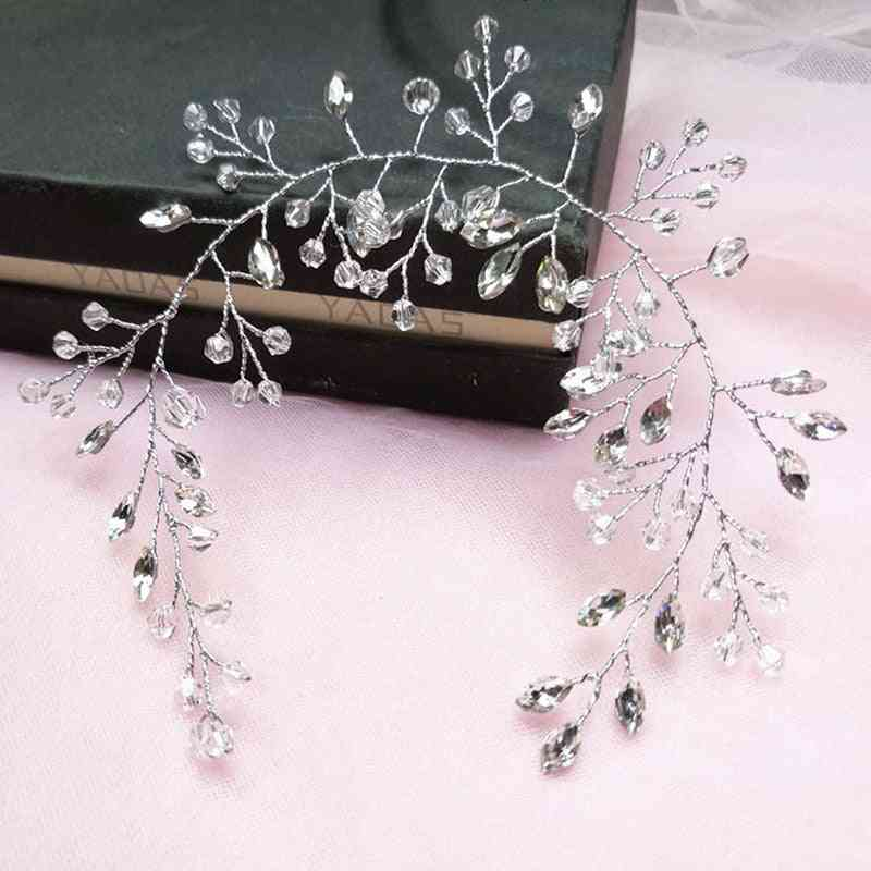 Crytal Headband For Wedding Bridal - Hair Accessories