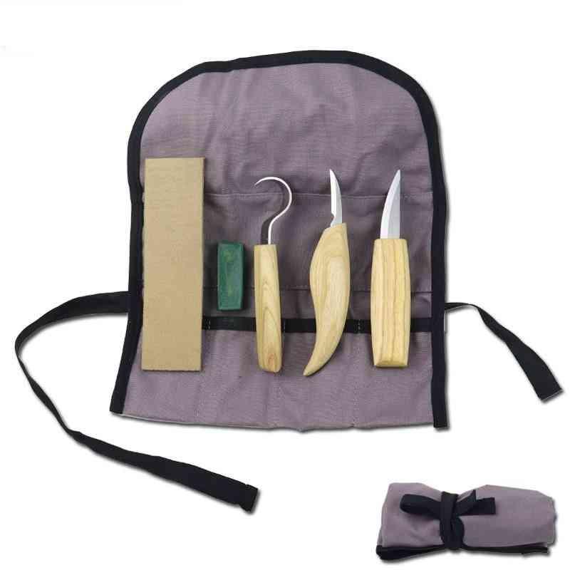 Wood Carving Kit Set- Hand Chisel Knife, Sharp-edged, Gouge Carpenter Tools