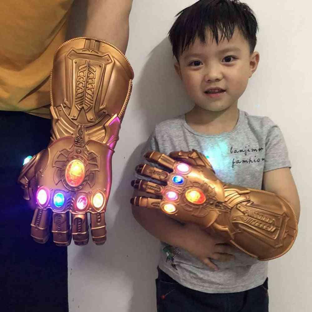 Thanos Infinity Gauntlet Light Glove Superhero Cosplay Gloves Led/adult
