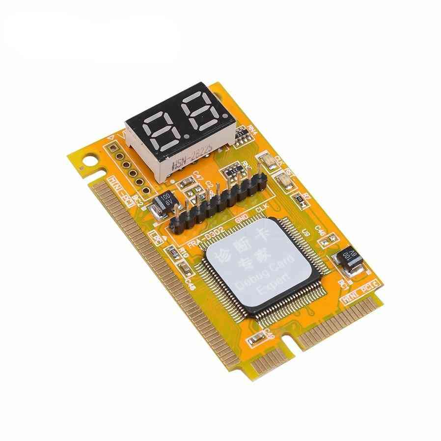 3 In 1 Mini Pci-e Lpc Pc Analyzer Tester Post Card Test Plastic / Metal High Stability For Laptop Express Cards