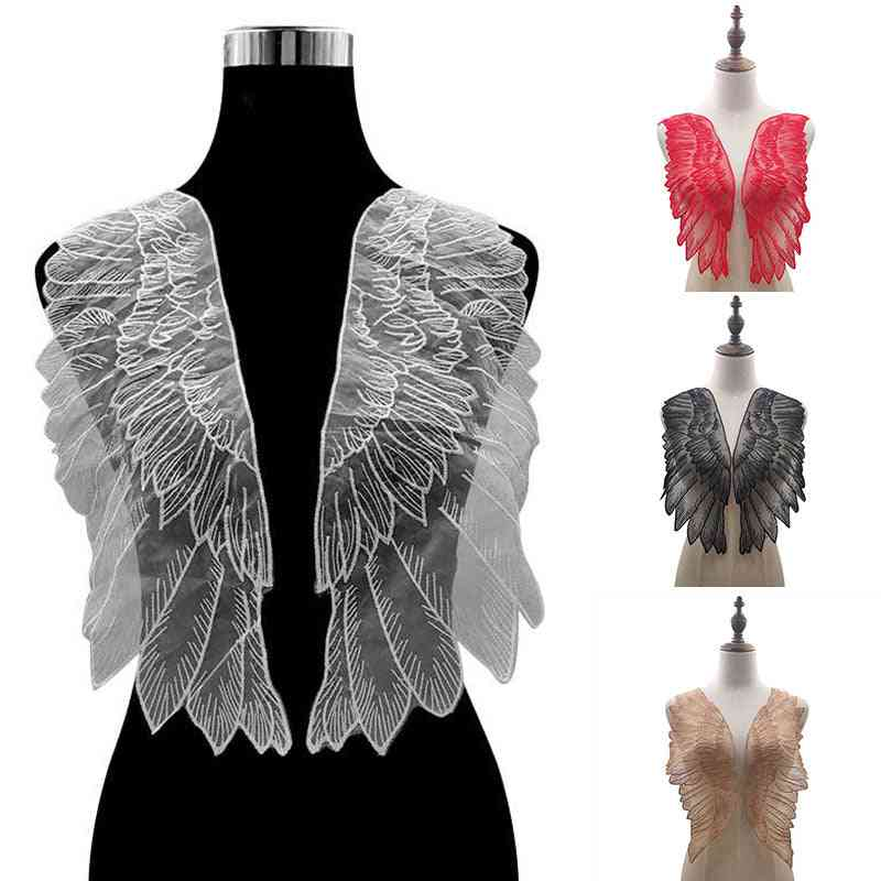 Wings Lace Embroidery Patches Diy, Collar Neckline Decorate - Sewing Craft Patche