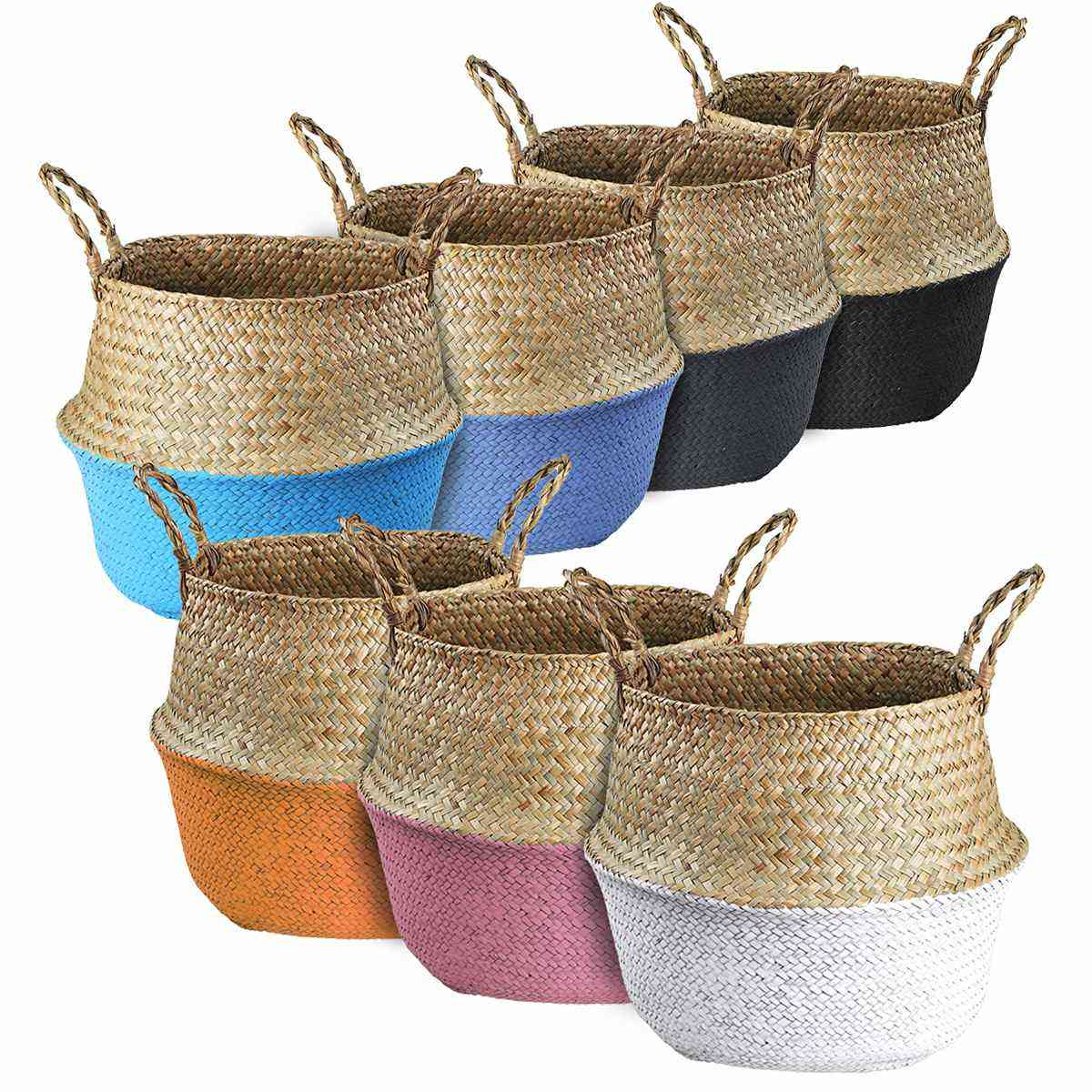 Storage Wicker Hanging Flower Pot Baskets For / Dirty Laundry