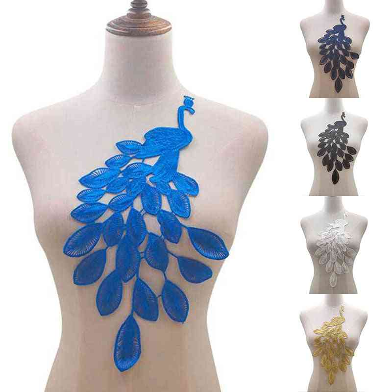Water-soluble, Peacock Pattern, Hollow Embroidery, Lace Stickers