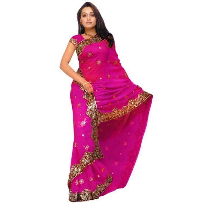 Fashion Woman Ethnic Styles Embroidery Sarees