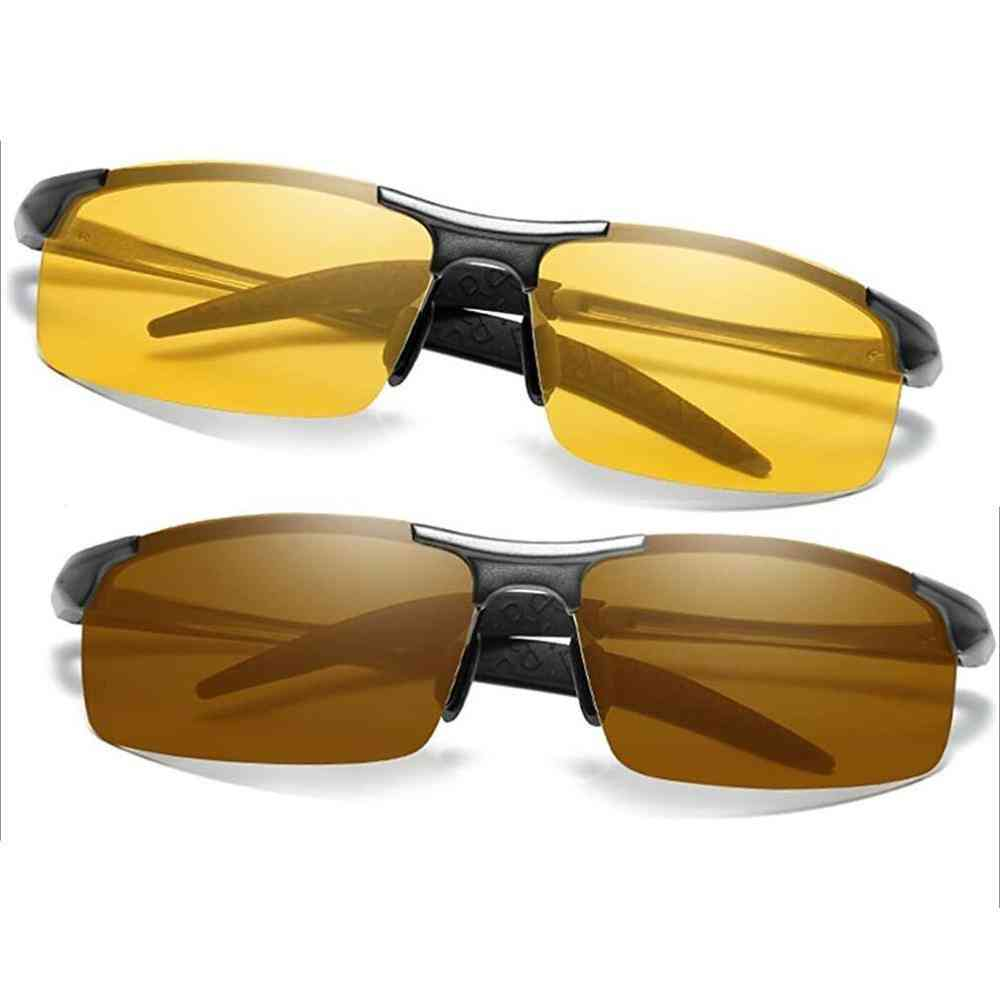 Polarized Men's Day & Night Vision Driving Sunglasses