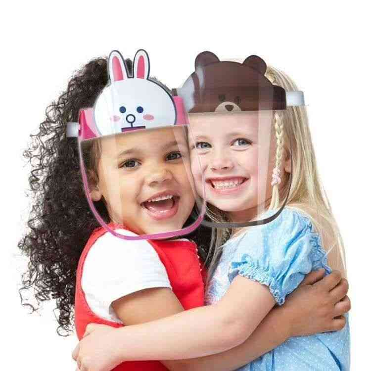 Children Kids Anti-droplets Visor Shield, Bucket Hat & Face Protective Cap