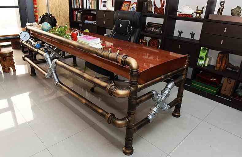 Pipe Tea Table Made Of Pipe And Valve Loft Industrial Creative Vintage Style Pipe Boss Table-j003