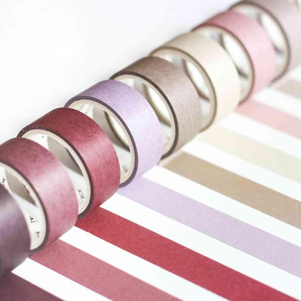 Morandi Solid Color Series - Washi Masking Tape