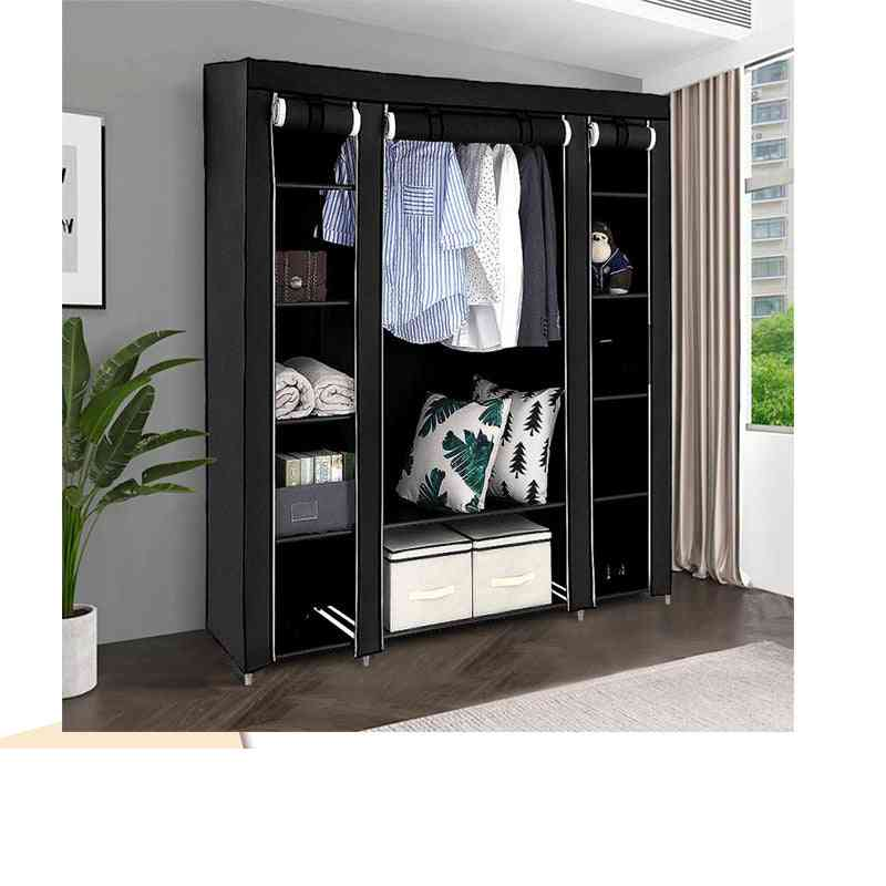 Folding Portable Light Clothing Storage Cabinet, Dustproof Closet